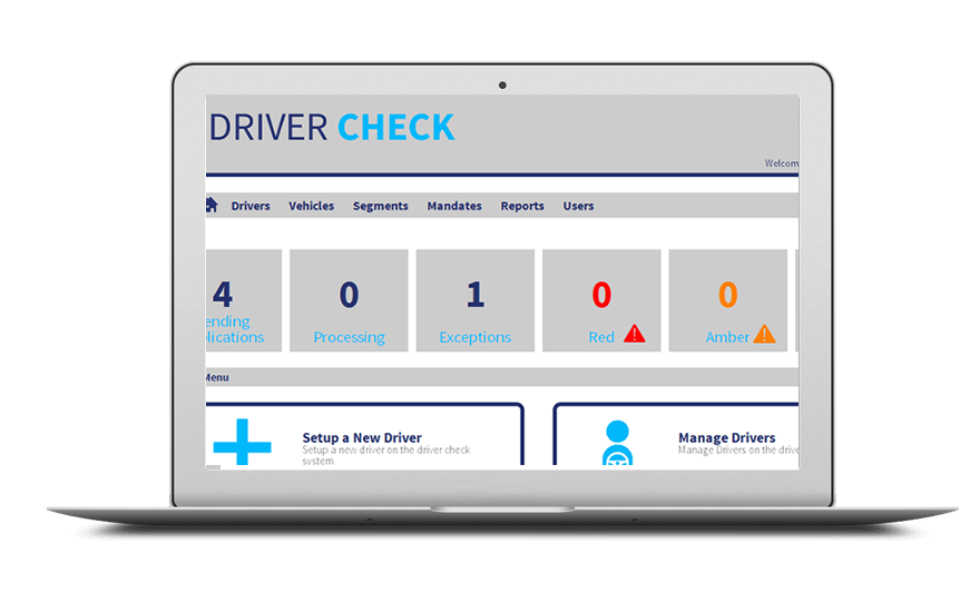Smartphone and laptop displaying Driver Licence Checking, bespoke software by ioSTUDIOS