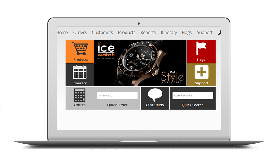 Smartphone and laptop displaying Bespoke Sales Order System, bespoke software by ioSTUDIOS